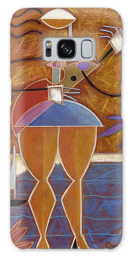 Colorful Galaxy Case featuring the painting Cuatro Caliente by Oscar Ortiz