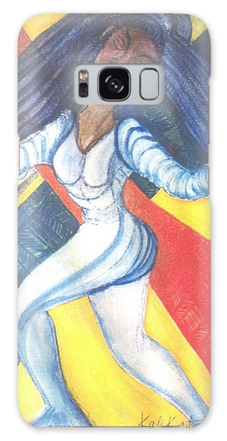 Galaxy S8 Case featuring the painting Dancer by Kalikata MBula