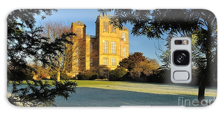 Historic Houses Galaxy S8 Case featuring the photograph Hardwick Hall Through The Trees by Moments In Time Photographics