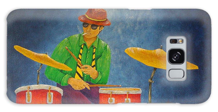 Pamela Allegretto-franz Galaxy Case featuring the painting Jazz Drummer by Pamela Allegretto
