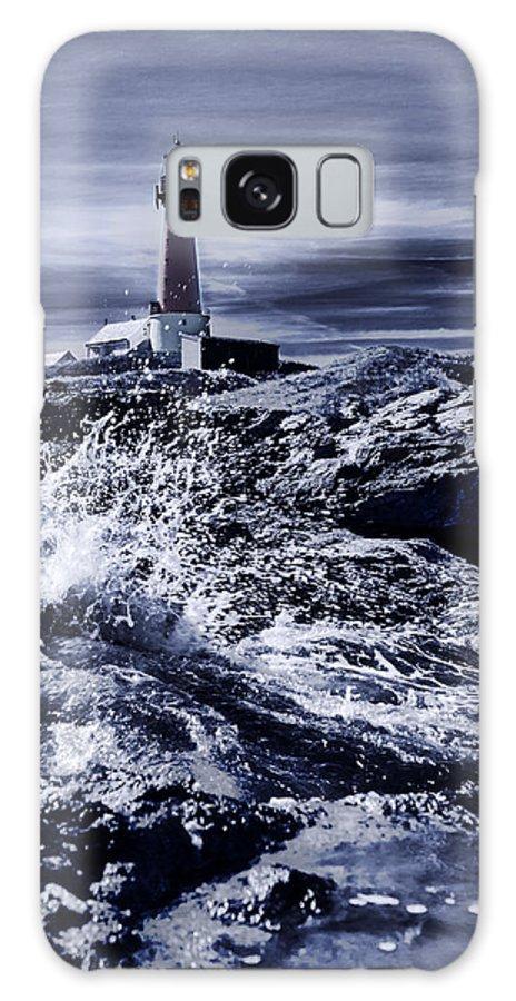 Black Galaxy S8 Case featuring the photograph Lighthouse by Finn Olav Olsen