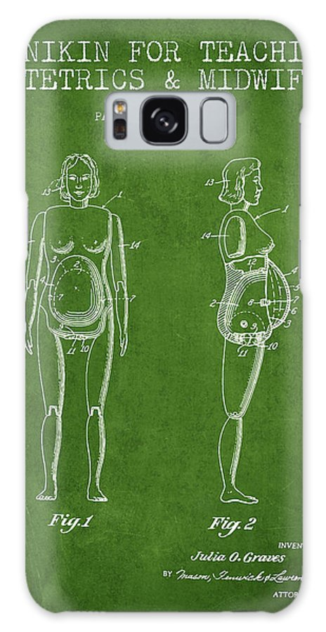 Midwife Galaxy S8 Case featuring the drawing Manikin For Teaching Obstetrics And Midwifery Patent From 1951 - by Aged Pixel