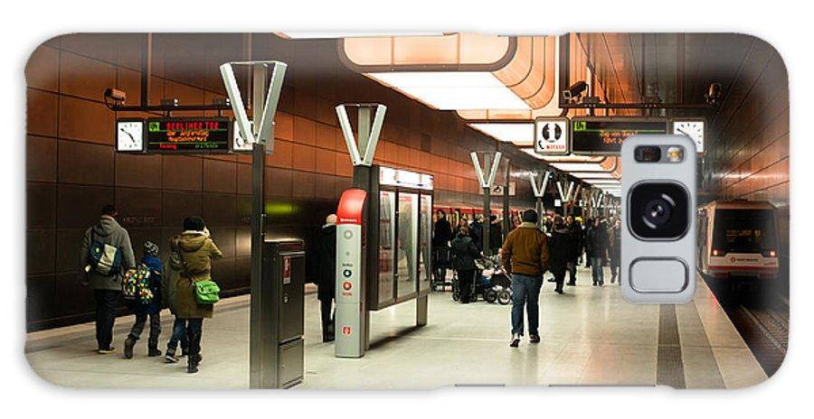 Hamburg Galaxy S8 Case featuring the photograph New Hafencity Station In Hamburg by Frank Gaertner