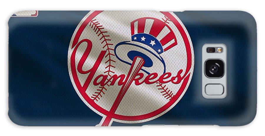 Yankees Galaxy Case featuring the photograph New York Yankees Uniform by Joe Hamilton