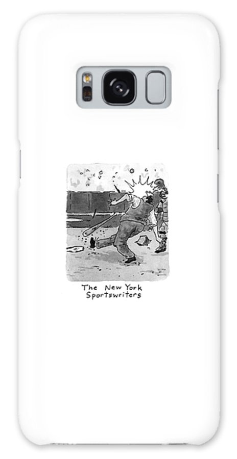 118894 Dsh Danny Shanahan (four Frames-1st Frame: Galaxy S8 Case featuring the drawing New Yorker April 5th, 1993 by Danny Shanahan