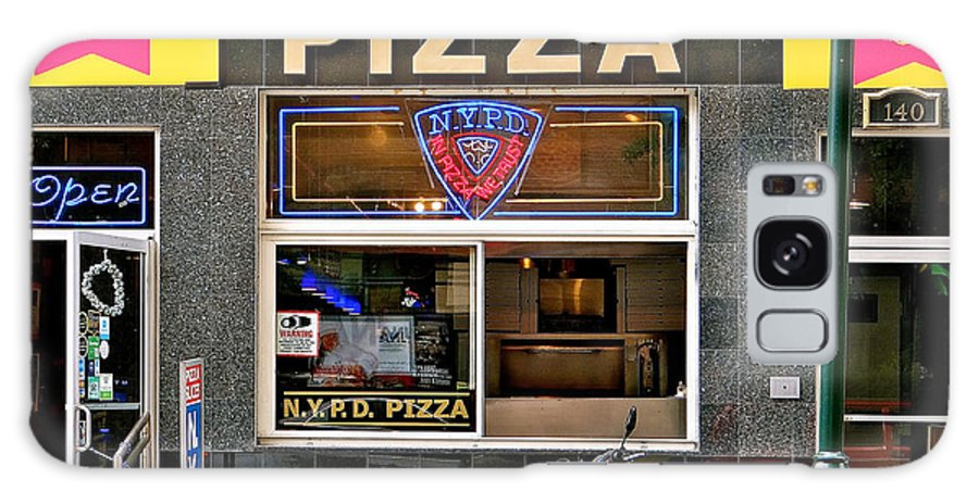 N.y.p.d. New York City Police Department Galaxy S8 Case featuring the photograph N.y.p.d. Pizza by Ira Shander