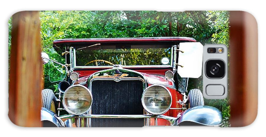 Close Up; Decorative; Red; Oldtimer; Car; Detail; Chrome; Weels; Sign; Silver; Background; Parts; White; South Africa; Galaxy S8 Case featuring the photograph Oldtimer by Werner Lehmann