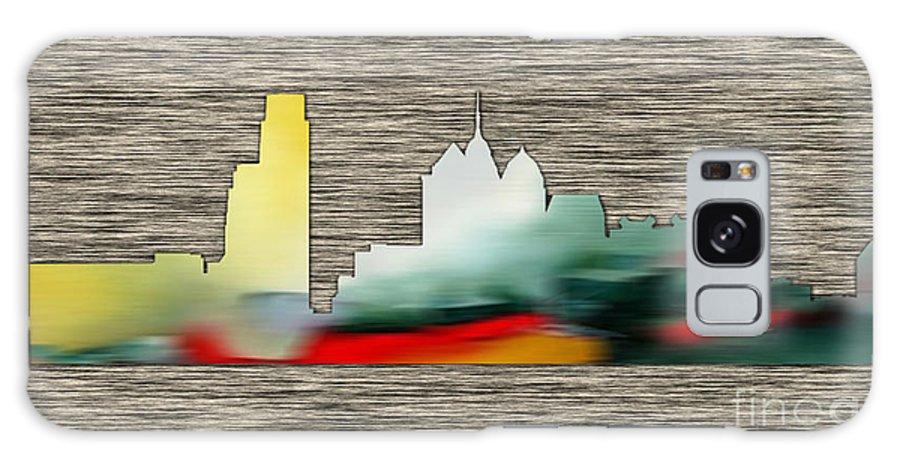Watercolour Digital Art Mixed Media Galaxy S8 Case featuring the mixed media Philadelphia Skyline by Marvin Blaine