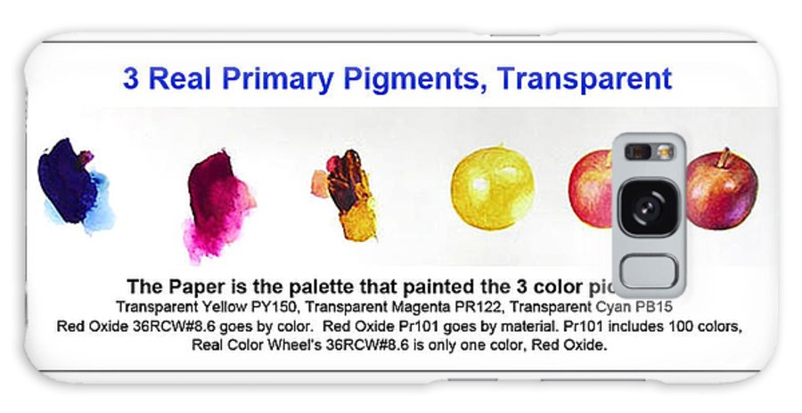 Faa Galaxy Case featuring the painting 3 Primary Pigments - Apple by Don Jusko