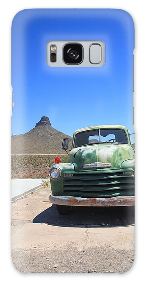 66 Galaxy S8 Case featuring the photograph Route 66 - Old Green Chevy by Frank Romeo