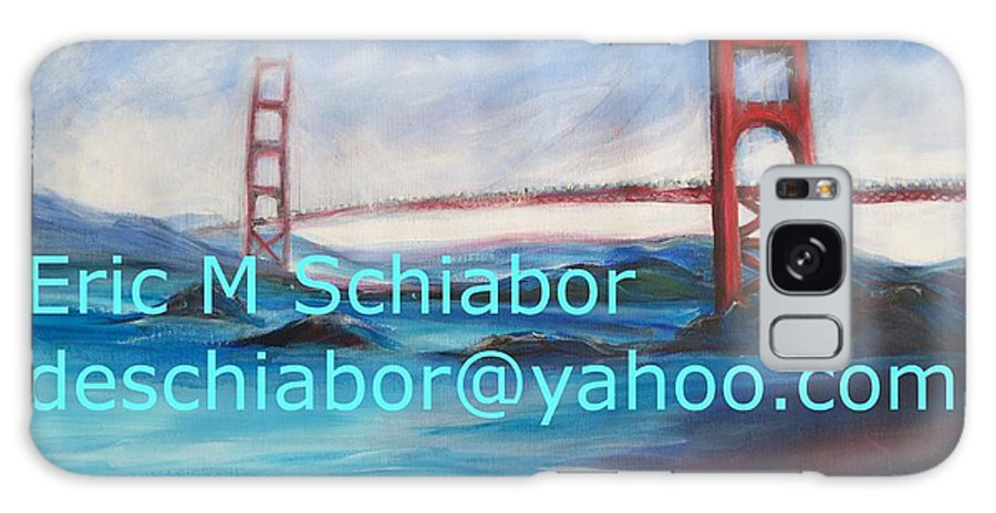 California Coast Galaxy Case featuring the painting San Francisco Golden Gate Bridge by Eric Schiabor