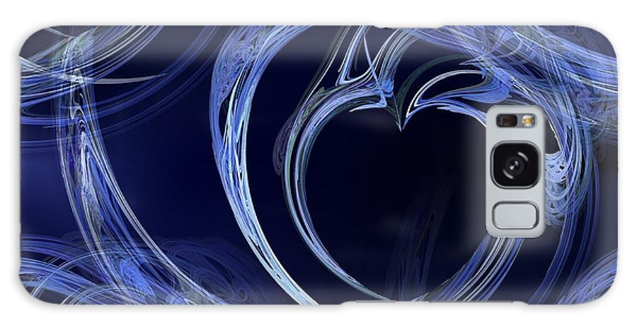 Abstract Galaxy S8 Case featuring the digital art Seamless Background Fractal by Henrik Lehnerer