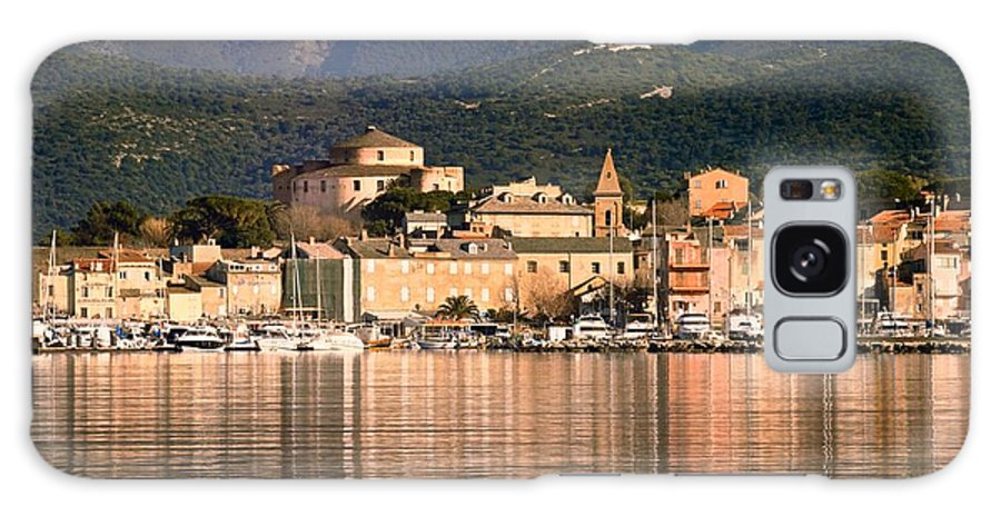 Blue Galaxy S8 Case featuring the photograph St Florent In Corsica by Jon Ingall