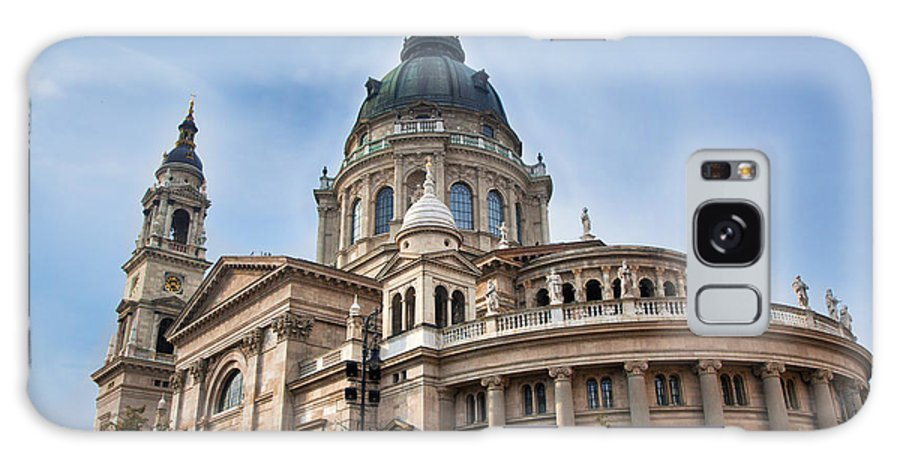 Budapest Galaxy S8 Case featuring the photograph St. Stephen's Basilica In Budapest by Michal Bednarek