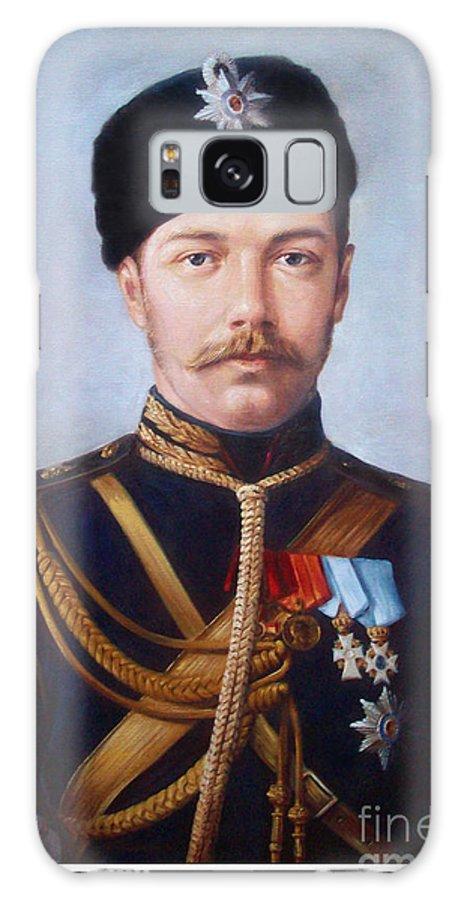 Tsar Nicholas Ii Of Russia Galaxy S8 Case featuring the painting Tsar Nicholas II Of Russia by George Alexander