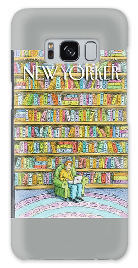Computer Galaxy Case featuring the painting New Yorker October 18th, 2010 by Roz Chast