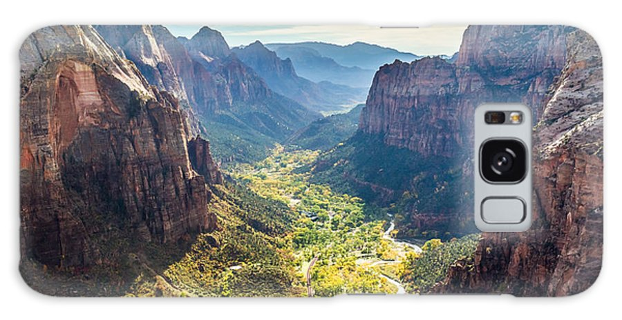 Zion Galaxy S8 Case featuring the photograph Zion National Park In Autumn by Pierre Leclerc Photography