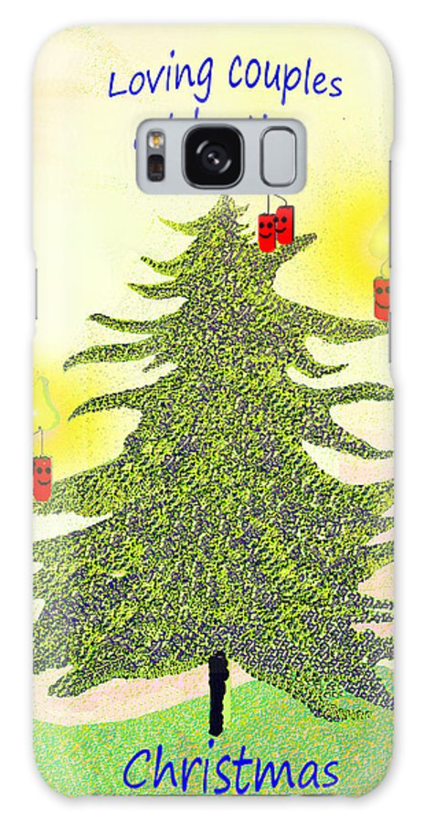 347 Galaxy S8 Case featuring the painting 347 - A Christmas Card by Irmgard Schoendorf Welch