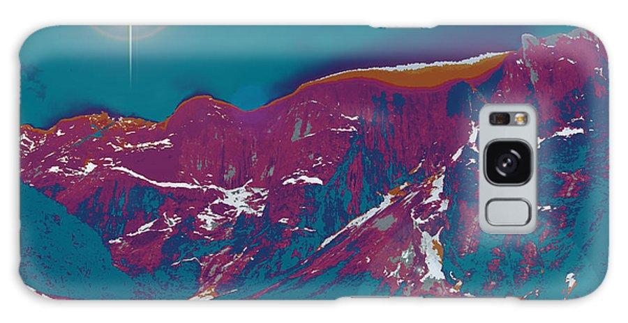 Augusta Stylianou Galaxy S8 Case featuring the digital art Space Landscape by Augusta Stylianou