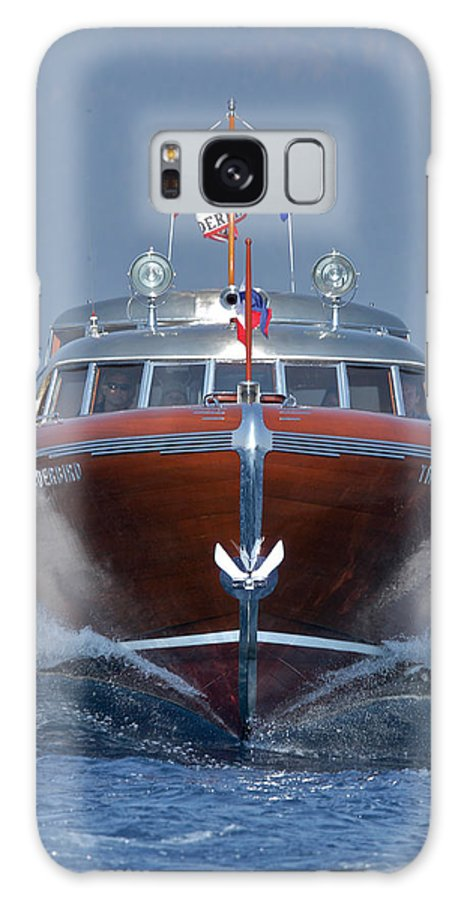 H2omark Galaxy S8 Case featuring the photograph Iconic Thunderbird Yacht by Steven Lapkin