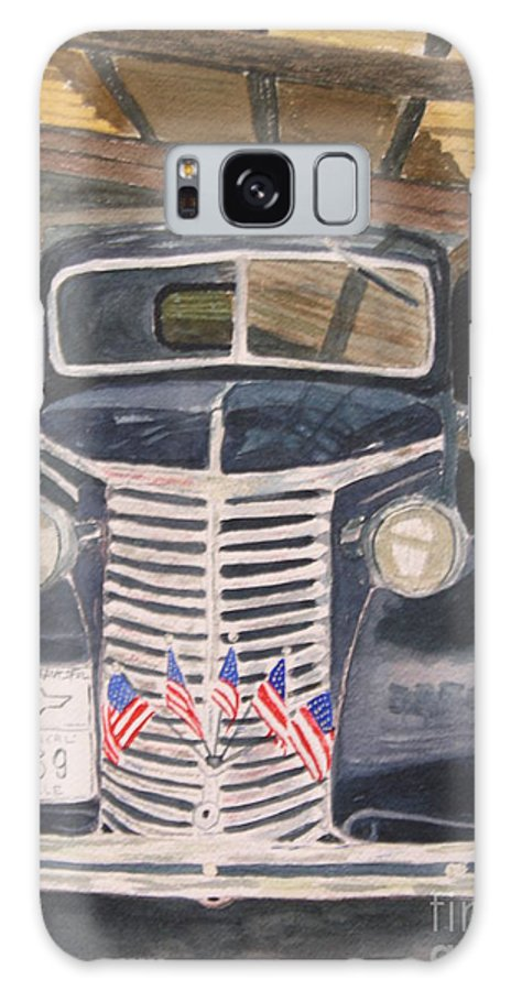 Antique Galaxy S8 Case featuring the painting 39 Chevy by Peggy Dickerson