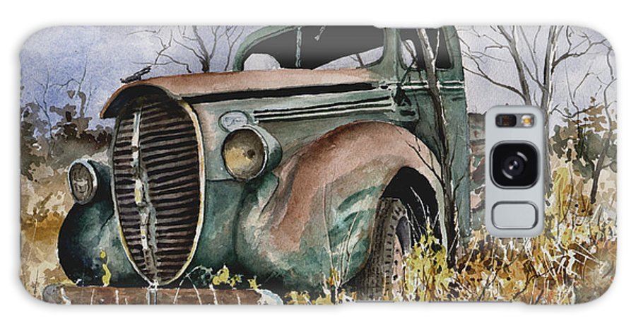 Truck Galaxy Case featuring the painting 39 Ford Truck by Sam Sidders