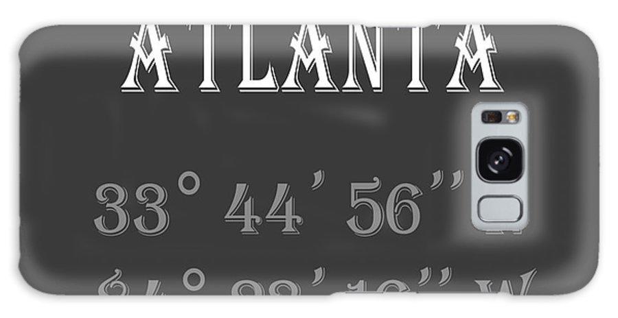 Atlanta Galaxy S8 Case featuring the digital art Atlanta Coordinates by Edit Voros