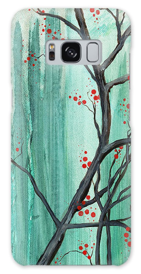 Cherry Tree Galaxy S8 Case featuring the painting Cherry Tree by Carrie Jackson