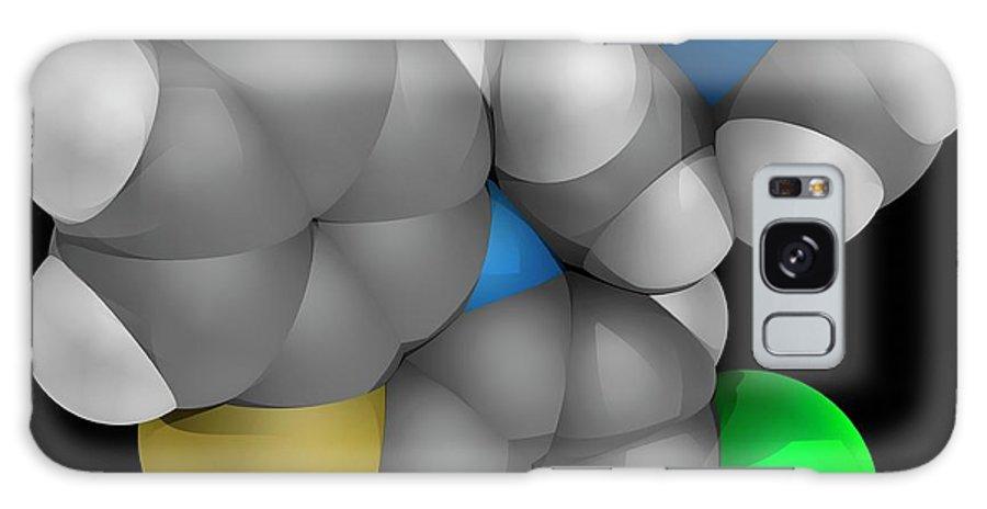 Artwork Galaxy Case featuring the photograph Chlorpromazine Drug Molecule by Laguna Design/science Photo Library