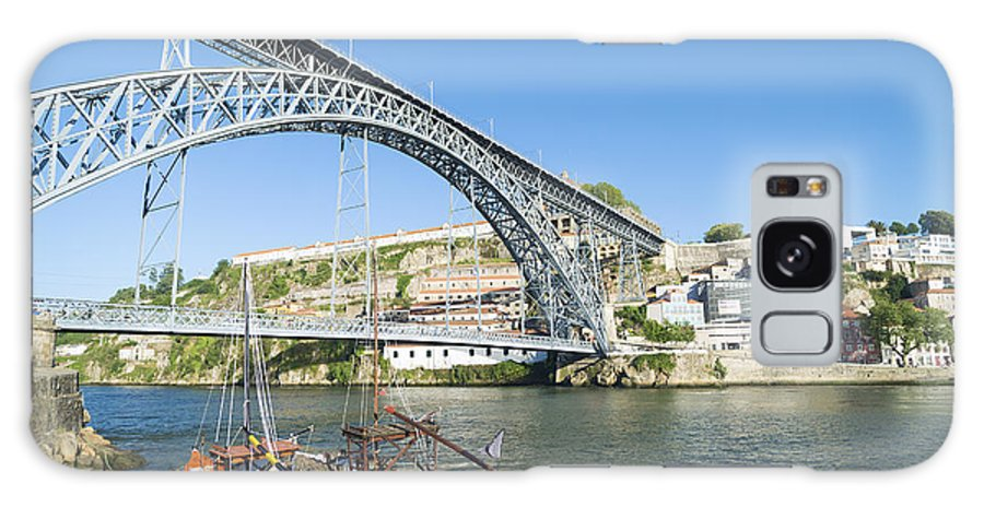 Architecture Galaxy S8 Case featuring the photograph Dom Luis Bridge Porto Portugal by Jacek Malipan