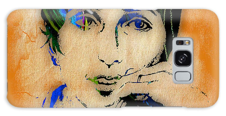 Joan Baez Galaxy S8 Case featuring the mixed media Joan Baez Collection by Marvin Blaine