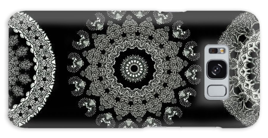 Ernst Haeckel Galaxy S8 Case featuring the photograph Kaleidoscope Ernst Haeckl Sea Life Series Black And White Set 2 by Amy Cicconi