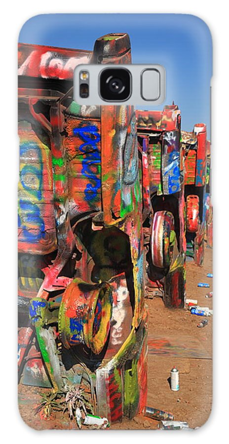 66 Galaxy S8 Case featuring the photograph Route 66 - Cadillac Ranch by Frank Romeo