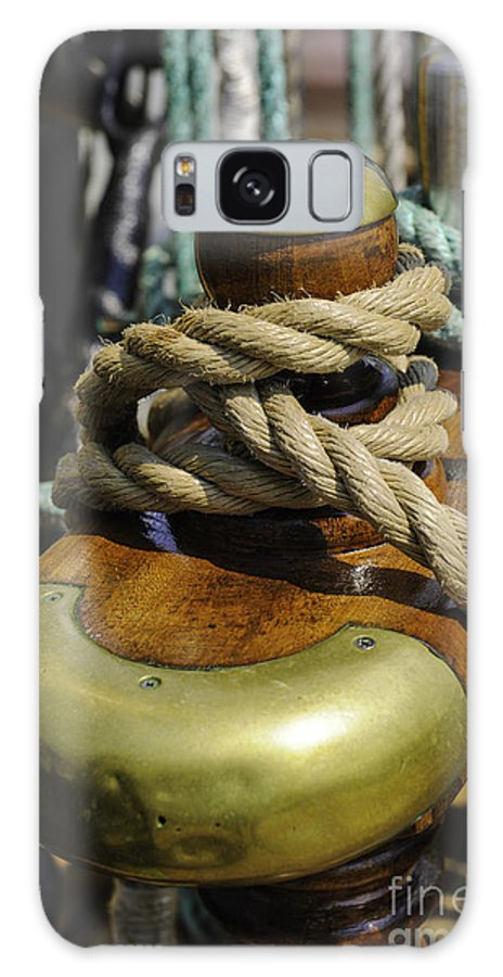 Tall Ship Galaxy S8 Case featuring the photograph Tall Ship Rigging Vertical by Dale Powell