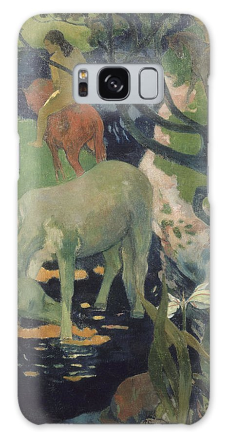Paul Gauguin Galaxy S8 Case featuring the painting The White Horse by Paul Gauguin