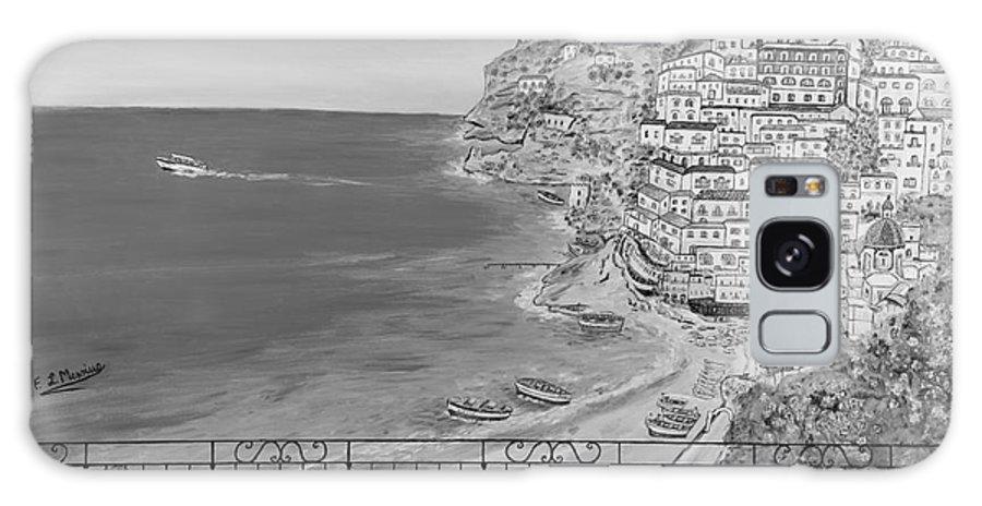 Drawing Galaxy S8 Case featuring the painting Vista Su Positano by Loredana Messina