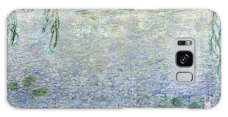 Impressionist Galaxy S8 Case featuring the painting Waterlilies Morning With Weeping Willows by Claude Monet