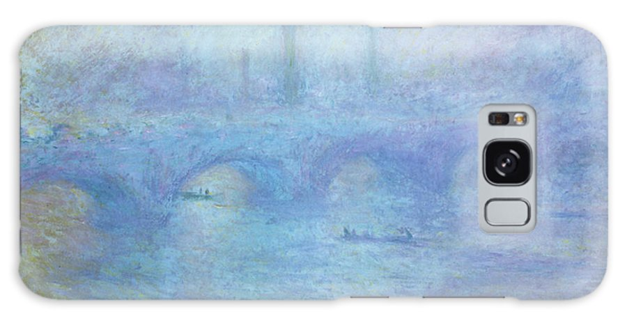 Foggy Galaxy S8 Case featuring the painting Waterloo Bridge by Claude Monet