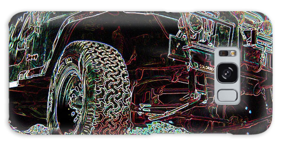 4 Wheelin Galaxy S8 Case featuring the digital art 4 Wheelin by Ernie Echols