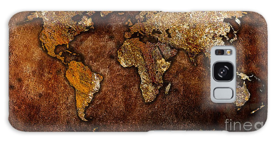 Map Of The World Digital Art Mixed Media Mixed Media Galaxy S8 Case featuring the mixed media World Map by Marvin Blaine