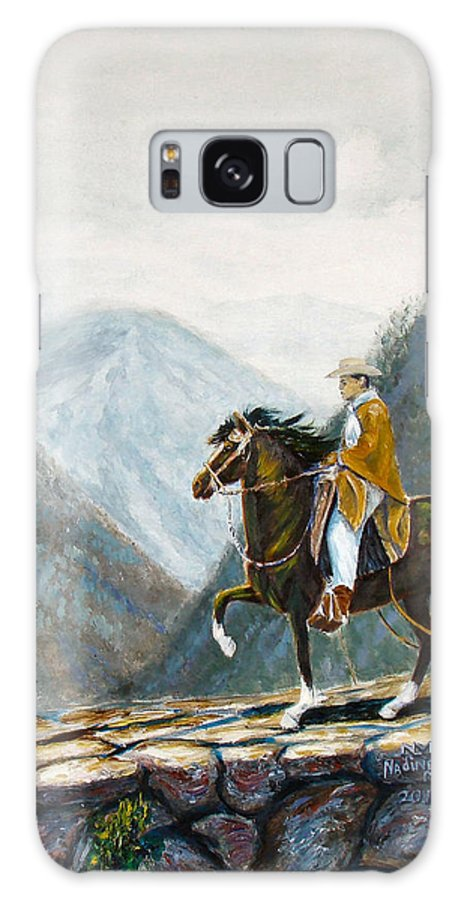 Peruvian Galaxy S8 Case featuring the painting 410 Peruvian Mountain Trail by Nadine Meade