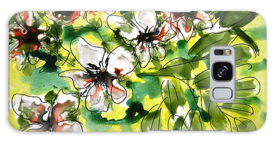 Floral Art Galaxy S8 Case featuring the painting Heavenly Flowers by Baljit Chadha