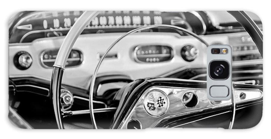 1958 Chevrolet Impala Steering Wheel Galaxy S8 Case featuring the photograph 1958 Chevrolet Impala Steering Wheel by Jill Reger