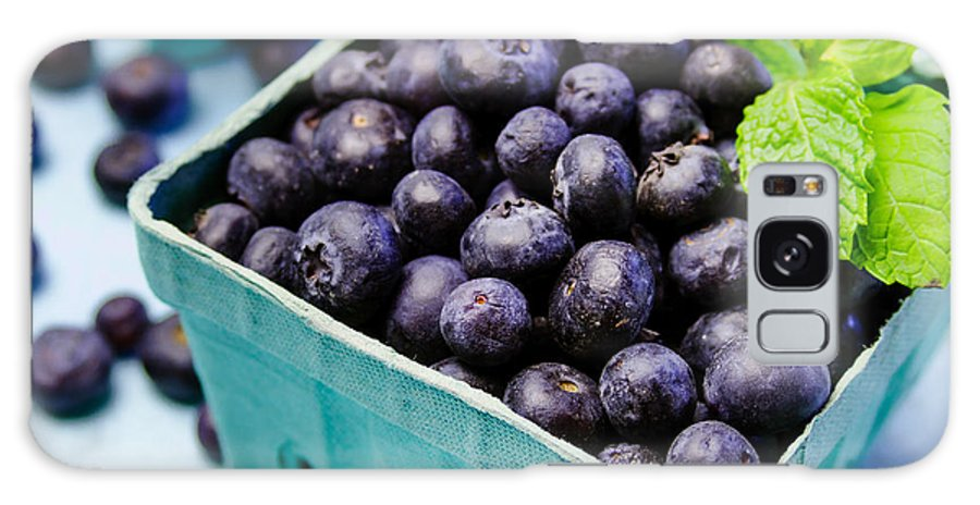 Agriculture Galaxy S8 Case featuring the photograph Fresh Picked Organic Blueberries by Teri Virbickis
