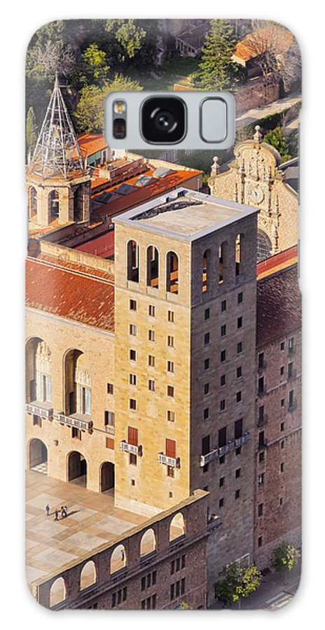 Vertical Galaxy S8 Case featuring the photograph Monastery In Montserrat by Karol Kozlowski