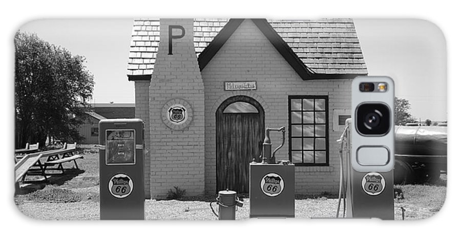 66 Galaxy S8 Case featuring the photograph Route 66 - Phillips 66 Gas Station by Frank Romeo