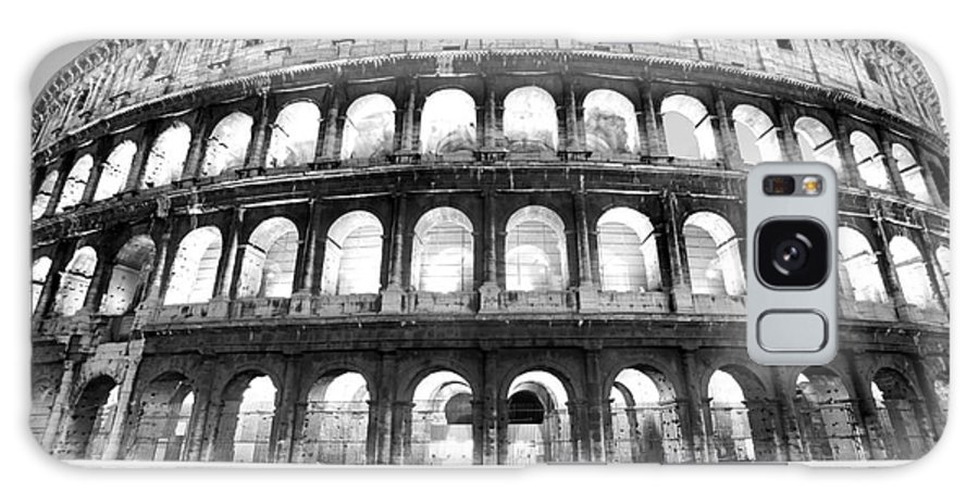 Column Galaxy S8 Case featuring the photograph The Majestic Coliseum - Rome by Luciano Mortula