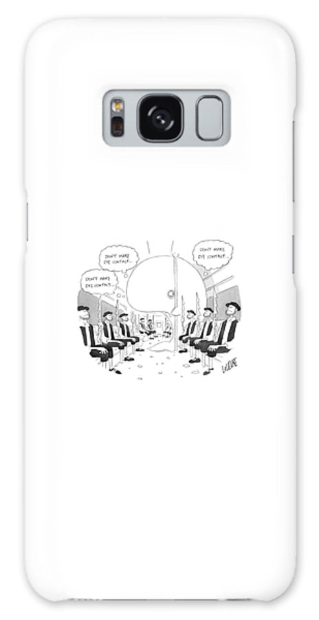 Moby Dick Galaxy Case featuring the drawing New Yorker March 3rd, 2008 by Glen Le Lievre
