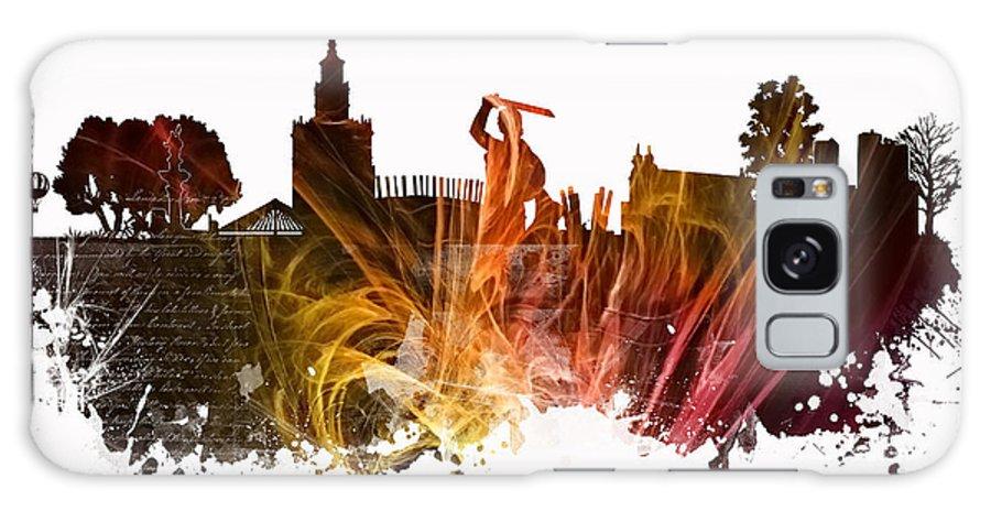 Warsaw Galaxy S8 Case featuring the digital art Warsaw City Skyline by Justyna JBJart