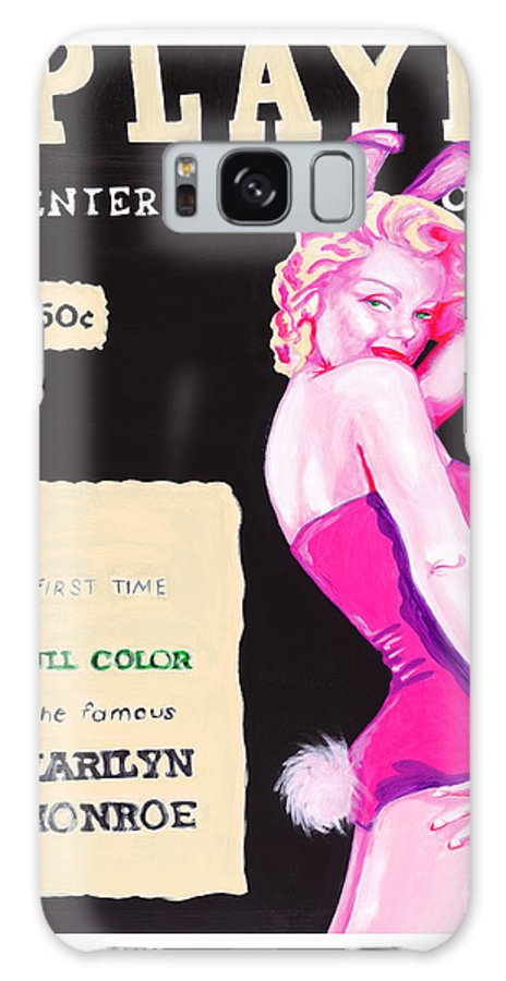 Marilyn Monroe Galaxy S8 Case featuring the painting 50 Years Of Bunnies by Holly Picano